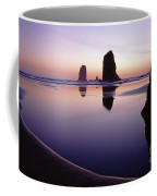 Needles Silhouetted Cannon Beach Oregon Coffee Mug