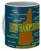 New Hampshire State Pride Map Silhouette  Coffee Mug