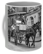 New Orleans - Carriage Ride Bw Coffee Mug