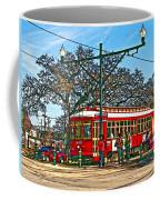 New Orleans Streetcar Painted Coffee Mug