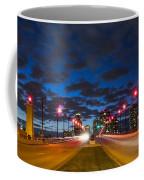 Night Lights Coffee Mug by Debra and Dave Vanderlaan