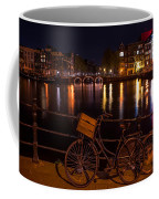 Night Lights On The Amsterdam Canals. Holland Coffee Mug