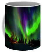 Northern Lights, Lapland, Sweden Coffee Mug