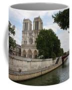Notre Dame Along The Seine Coffee Mug
