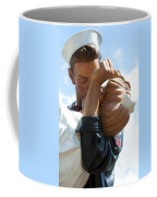 Nurse And Sailor Kissing Statue Unconditional Surrender Closeup  Coffee Mug