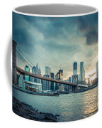 Nyc Skyline In The Sunset V1 Coffee Mug