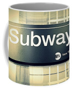 Nyc Subway Sign Coffee Mug