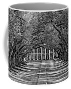Oak Alley Bw Coffee Mug by Steve Harrington