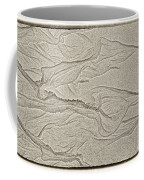 Ocean Sand Art Hearts Left Side Coffee Mug