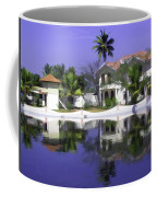 Oil Painting - Cottages And Lagoon Water In Alleppey Coffee Mug