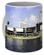 Oil Painting - View Of The Preparation For The Formula One Race In Singapore Coffee Mug