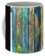 Old Barnyard Gate With Colors Brightened Coffee Mug