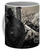 Old Black Locomotive Engine Details Coffee Mug