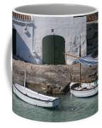 Typical Mediterranean Fishermen Boat And House In Minorca Island - Old Fishermen Villa Coffee Mug