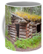 Old Traditional Log Cabin Rotting In Yukon Taiga Coffee Mug