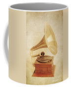 Old Vintage Gold Gramophone Photo. Classical Sound Coffee Mug