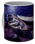 Old Wooden Boats At Night Coffee Mug