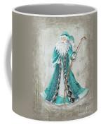 Old World Style Turquoise Aqua Teal Santa Claus Christmas Art By Megan Duncanson Coffee Mug