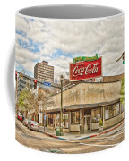On The Corner Coffee Mug by Scott Pellegrin