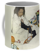 Opening The Christmas Stocking Coffee Mug