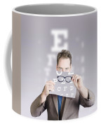 Optometrist Or Vision Doctor Holding Eye Glasses Coffee Mug
