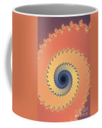 Orange Fractal Coffee Mug