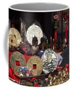 Outdoor Shop Sells Fake Chinese Antiques Coffee Mug by Yali Shi