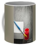 Paintbrush On Canvas Coffee Mug by Elena Elisseeva