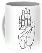 Palmistry Chart, 1885 Coffee Mug