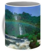 Panoramic View Of Iguazu Waterfalls Coffee Mug