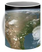 Panoramic View Of Planet Earth Coffee Mug