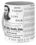 Patent Medicine Ad, 1887 Coffee Mug