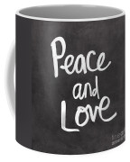 Peace And Love Coffee Mug