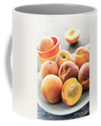 Peaches On Plate Coffee Mug