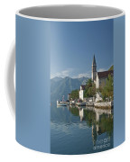 Perast Village On Kotor Bay Montenegro  Coffee Mug