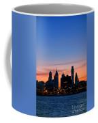 Philadelphia Dusk Coffee Mug by Olivier Le Queinec