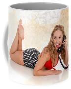 Pinup Girl On The Phone Coffee Mug