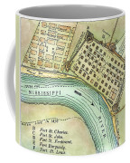 Plan Of New Orleans, 1798 Coffee Mug