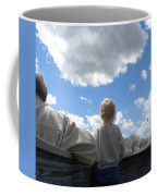Plane Viewing From The Truck Bed Coffee Mug by Sheri Lauren Schmidt