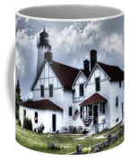 Point Iroquois Lighthouse Michigan Coffee Mug