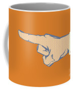 Pointing Finger Vector Coffee Mug