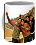Portuguese Teens Wish A Happy New Year In Nazarre-portugal  Coffee Mug