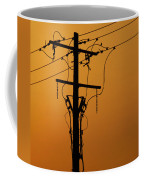 Power Line Sunset Coffee Mug