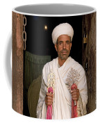 Priest At Ancient Rock Hewn Churches Of Lalibela Ethiopia Coffee Mug