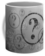 Question Mark Background Bw Coffee Mug