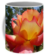 Rainbow Sorbet Rose Close Up Coffee Mug by Denise Mazzocco