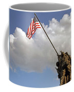 Raising The American Flag Coffee Mug
