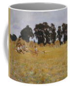 Reapers Resting In A Wheat Field Coffee Mug