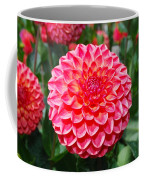 Red And White Flower Coffee Mug