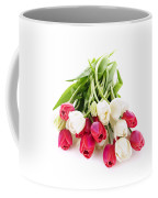Red And White Tulips Coffee Mug by Elena Elisseeva